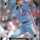 DENNIS MARTINEZ 1992 Aces Ace Spades.  EXPOS
