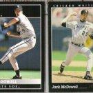 JACK McDOWELL 1992 + 1993 Pinnacle.  WHITE SOX