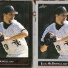 JACK McDOWELL 1992 Leaf Black GOLD Insert w/ sister.  WHITE SOX