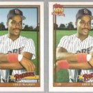 FRED McGRIFF (2) 1991 Topps Traded #77T.  PADRES