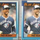 FRED McGRIFF (2) 1990 Topps #295.  BLUE JAYS
