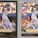 FRED McGRIFF 1992 Leaf Black GOLD Insert w/ sister.  PADRES