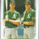 MARK McGWIRE 1988 Topps #759 w/ Canseco.  A's