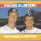 MARK McGWIRE 1988 Score w/ Nokes. Rookie Sluggers.  A's