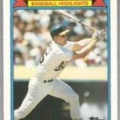 MARK McGWIRE 1988 Topps Woolworth Odd #15 of 33.  A's