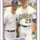 MARK McGWIRE 1990 Fleer #638 w/ Mattingly.  A's