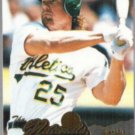 MARK McGWIRE 1996 Pinnacle The Naturals #158.  A's