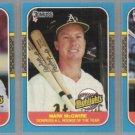 MARK McGWIRE (3) 1987 Donruss #27, 54 + 46.  A's