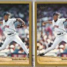 PEDRO MARTINEZ (2) 1999 Topps #95.  RED SOX