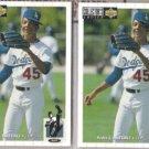 PEDRO MARTINEZ (2) 1994 Upper Deck CC #189.  DODGERS