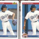 PEDRO MARTINEZ (2) 1992 Upper Deck RC #18.  DODGERS