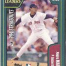 PEDRO MARTINEZ 2000 Topps Leader w/ Big Unit Foil side.  RED SOX