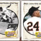WILLIE MAYS (2) 1992 Upper Deck Heroes #46 + 48.  METS