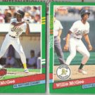 WILLIE McGEE (2) 1991 Donruss #BC22 + 666.  A's
