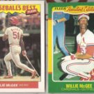WILLIE McGEE (2) diff. 1986 Fleer Odds LE + Best.  CARDS
