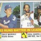 DALE MURPHY 1984 Topps Leaders w/ J. Rice #133.  BRAVES