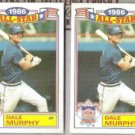 DALE MURPHY (2) 1987 Topps AS Glossy #7 of 22.  BRAVES