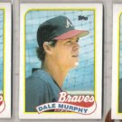 DALE MURPHY (3) 1989 Topps #210.  BRAVES