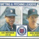 JACK MORRIS 1984 Topps Leaders w/ Whitaker #666.  TIGERS