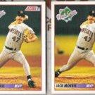 JACK MORRIS (2) 1992 Score Series MVP #798.  TWINS