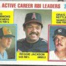 GRAIG NETTLES 1984 Topps Leaders #713 w/ Reggie.  YANKEES