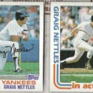 GRAIG NETTLES 1982 Topps + 1982 Topps In Action.  YANKEES