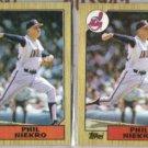 PHIL NIEKRO (2) 1987 Topps #694.  INDIANS