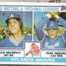 PHIL NIEKRO 1983 Topps #502 w/ D. Murphy.  BRAVES