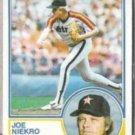 JOE NIEKRO 1983 Topps #221.  ASTROS