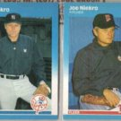 JOE NIEKRO 1987 Fleer #106 + U-87.  YANKEES / TWINS
