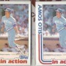 AMOS OTIS (2) 1982 Topps In Action #726.  ROYALS