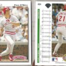 PAUL O'NEILL (2) 1992 Upper Deck #464.  REDS
