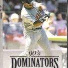 KIRBY PUCKETT 1994 Donruss Dominators Insert #5 of 10.  TWINS