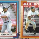 KIRBY PUCKETT 1990 Topps #700 + #391 AS.  TWINS