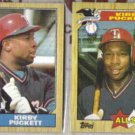 KIRBY PUCKETT 1987 Topps #450 + #611 AS.  TWINS