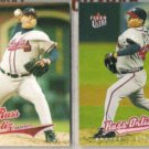RUSS ORTIZ 2004 + 2005 Fleer Ultra.  BRAVES