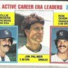 JIM PALMER 1984 Topps Leaders #717 w/ Guidry, Fingers.  ORIOLES
