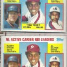 TONY PEREZ (2) 1984 Topps Leaders #704 w/ Staub, Oliver.  PHILLIES