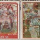 DAVE PARKER 1987 + 1988 Sportflics.  REDS