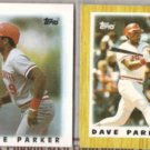 DAVE PARKER 1986 + 1987 Topps minis.  REDS