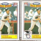 LANCE PARRISH (2) 1987 Topps AS Glossy #20 of 22.  TIGERS