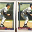 MIKE PAGLIARULO (2) 1992 Topps #721.  TWINS