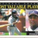 TERRY PENDLETON 1992 Score NL MVP #789.  BRAVES