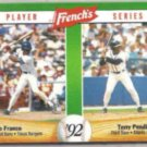 TERRY PENDLETON 1992 French's Insert #3 of 18.  BRAVES