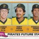 TONY PENA 1981 Topps Future Stars #551.  PIRATES