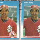 TONY PENA (2) 1987 Fleer Update #U-98.  CARDS