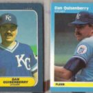 DAN QUISENBERRY 1986 + 1987 Fleer Minis.  ROYALS