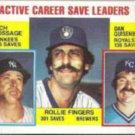 DAN QUISENBERRY 1984 Topps #718 w/ Fingers, Goose.  ROYALS