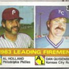 DAN QUISENBERRY 1984 Topps #138 w/ Al Holland.  ROYALS
