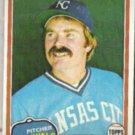 DAN QUISENBERRY 1981 Topps #493.  ROYALS